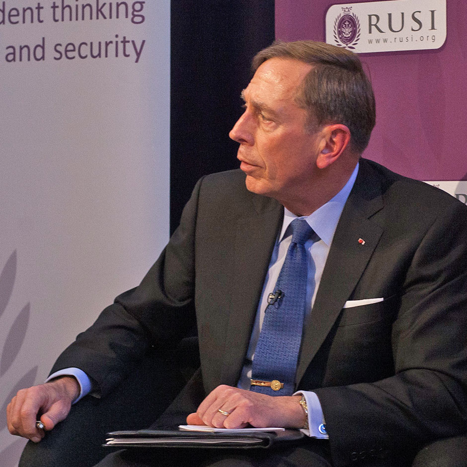 General David Petraeus at RUSI